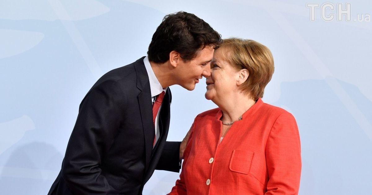 Джастин Трюдо и Ангела Меркель @ Reuters