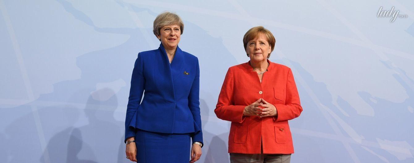 Битва нарядов: Тереза Мэй vs Ангела Меркель