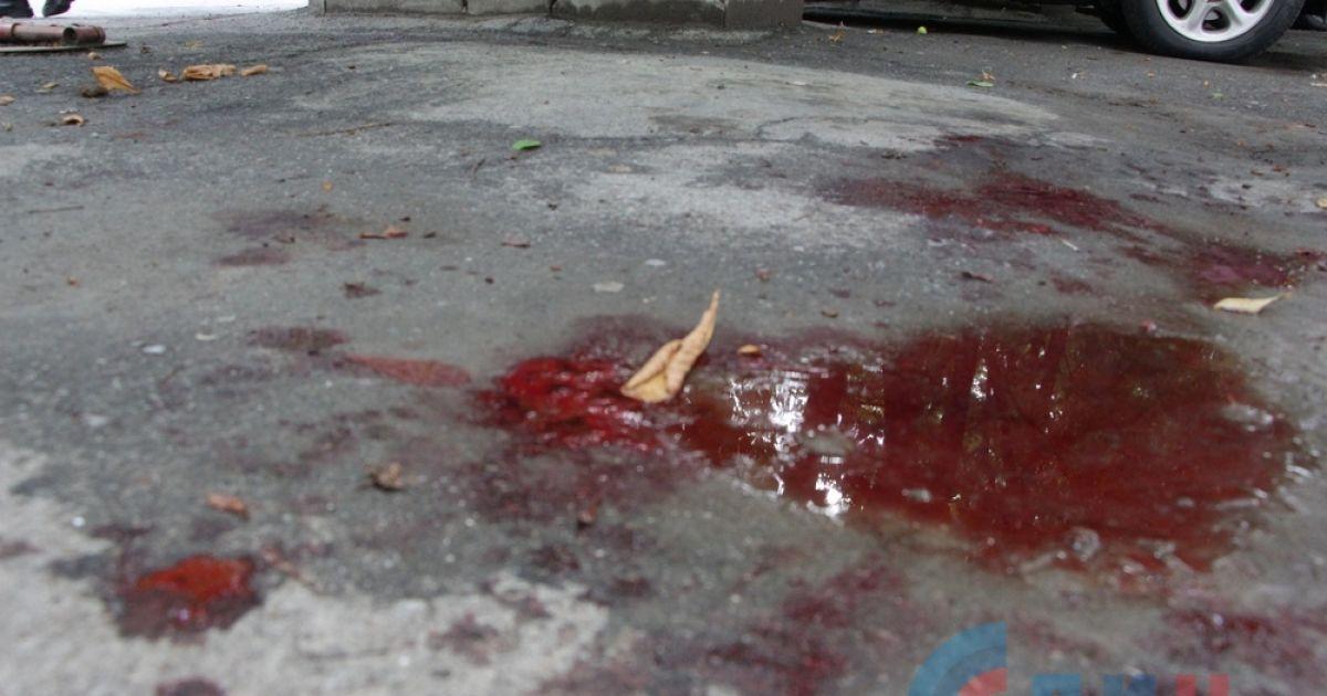 Фото с места первого взрыва @ Луганский информационный центр