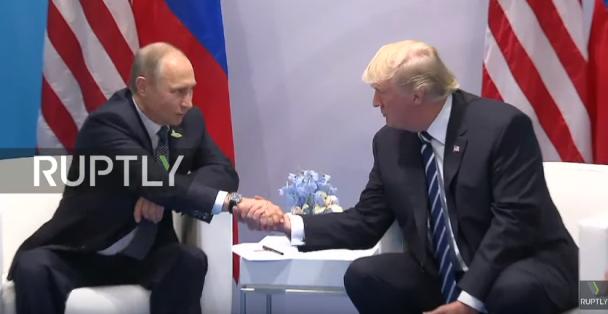 Началась первая встреча Путина и Трампа