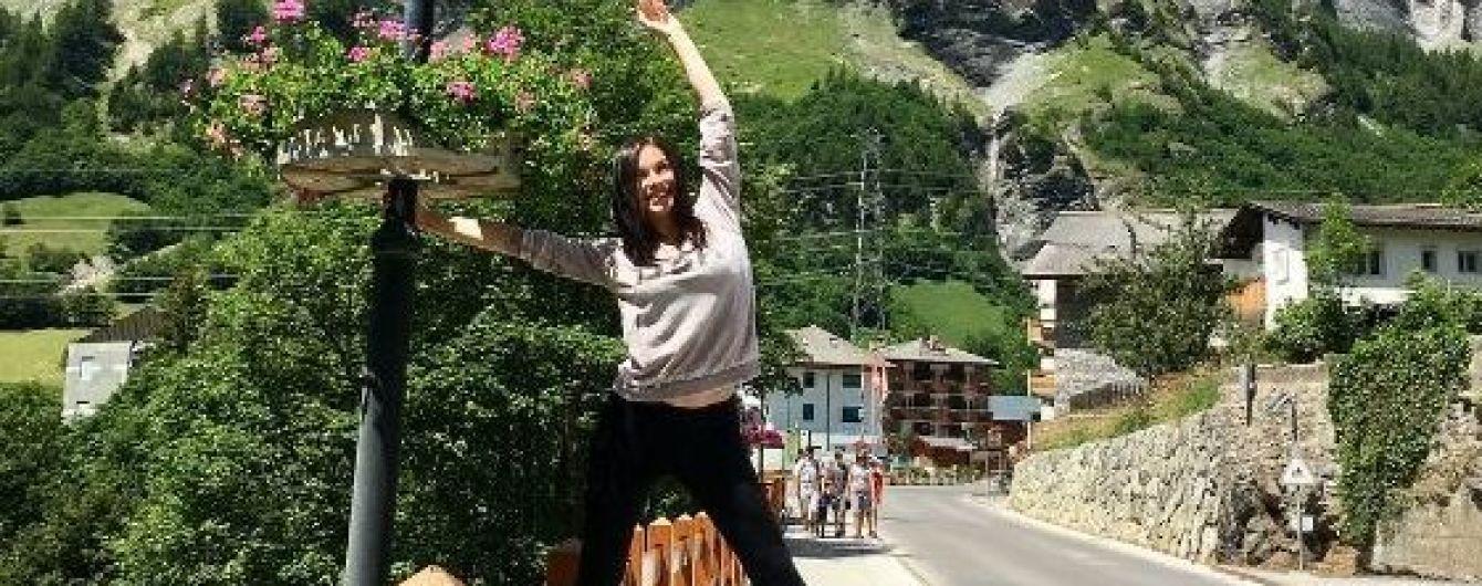 В спортивном наряде на фоне гор: Надя Мейхер поделилась снимками с отдыха