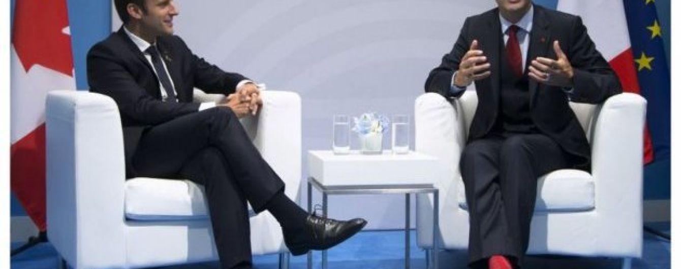 Трюдо и Макрон пообщались об Украине