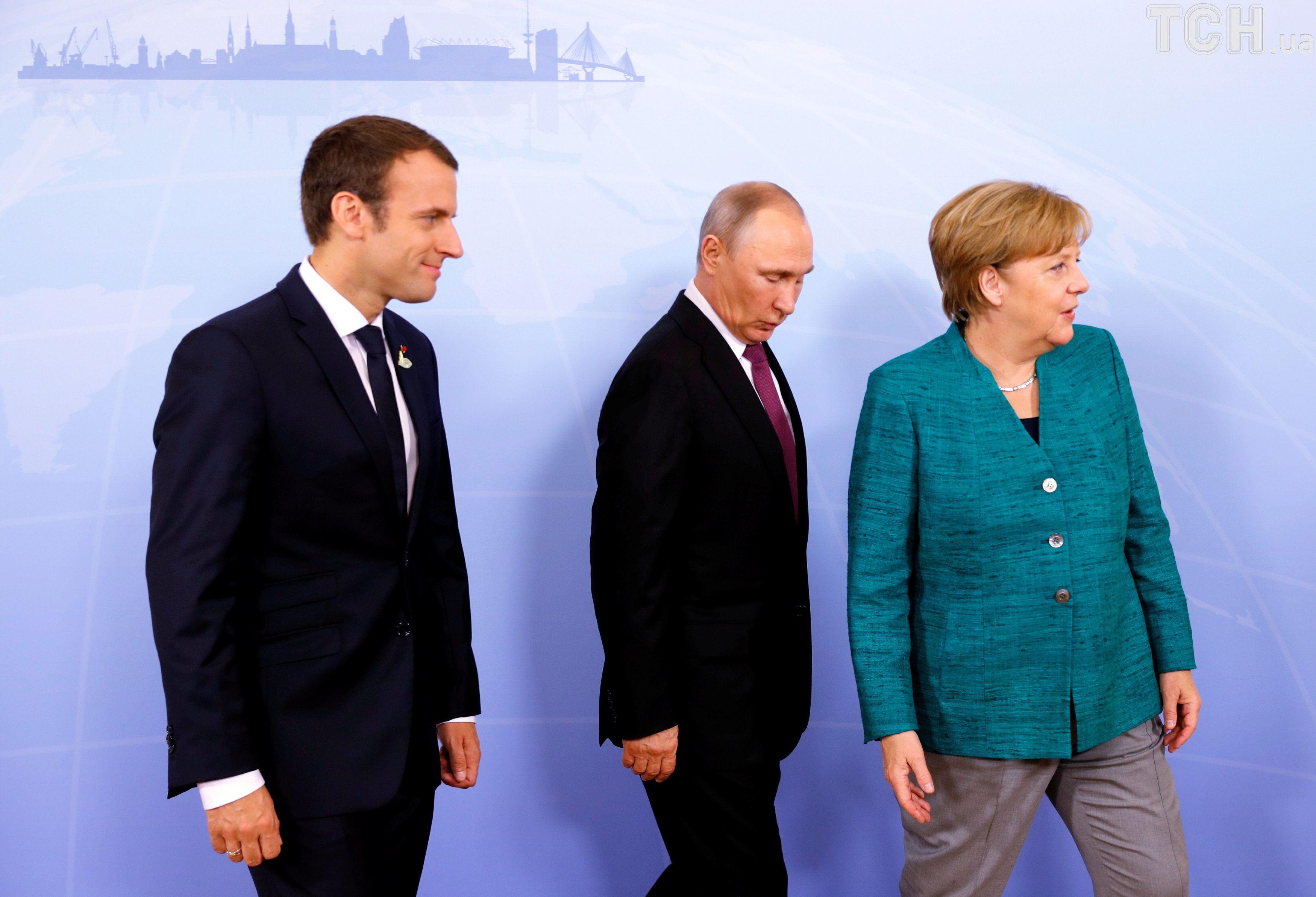 Путін, Макрон, Меркель_1