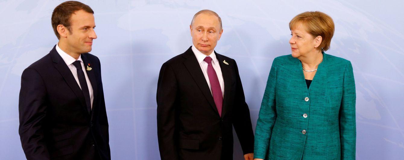 Меркель, Макрон и Путин договорились по ситуации на востоке Украины