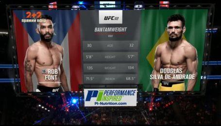 UFC. Дуглас Силва - Роб Фонт. Видео боя