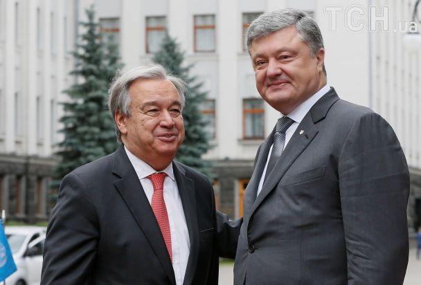 Допомога майже 3 млн українцям на Донбасі і реформи: про що говорили генсек ООН Гутерреш і Порошенко