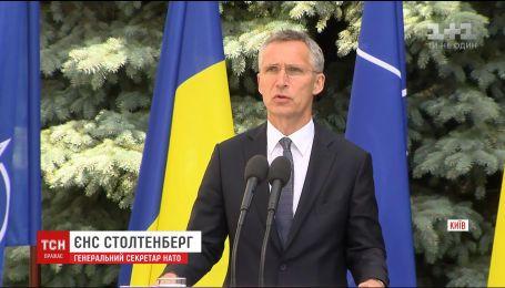 Повну підтримку Україні висловив генсек НАТО Єнс Столтенберг
