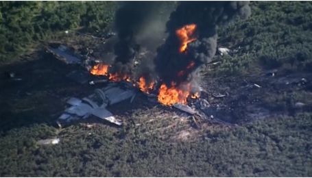 В Миссисипи разбился военный самолет, есть жертвы