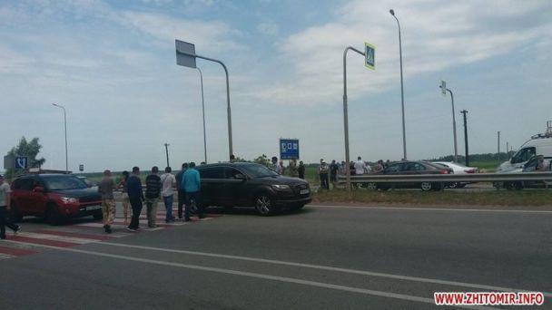 """На Житомирщине АТОшники перекрыли трассу """"Киев-Чоп"""""""