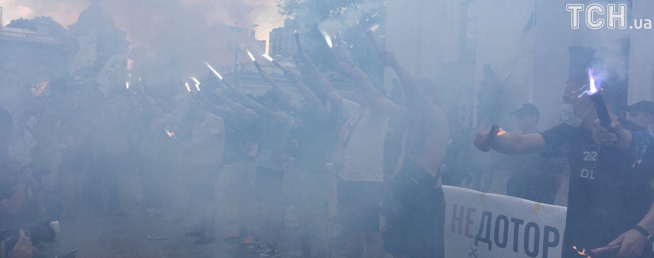 """Ответственность за огонь и дым под Радой взял на себя """"Национальный корпус"""""""