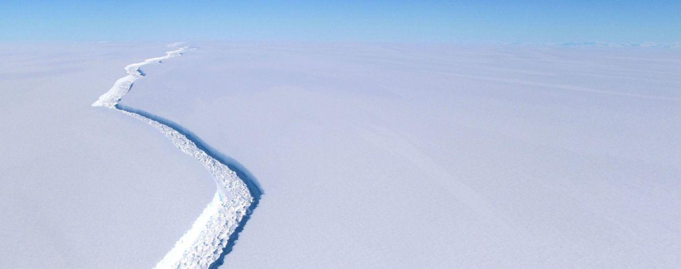 Ледники трещат по швам. От Антарктиды откололся айсберг массой в триллион тонн