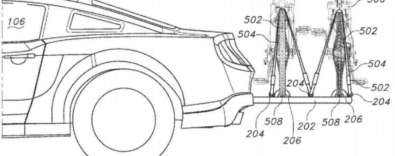 Ford запатентовал выдвигающееся крепление для велосипедов