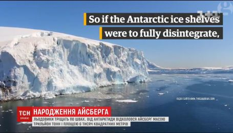 Гигантский айсберг может представлять опасность для островов и континентов