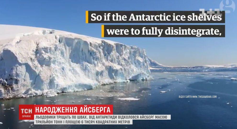 Гігантський айсберг може загрожувати для островів та континентів