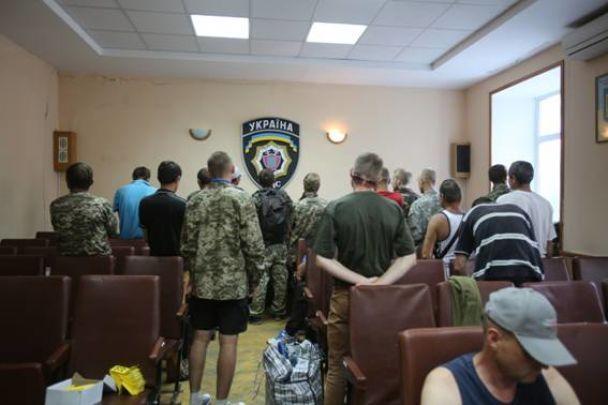У Києві під будівлею ГПУ затримали групу фейкових АТОвців