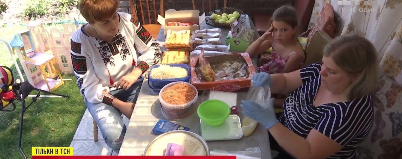 Простая волонтер из Борисполя передала на фронт пищи на 130 тысяч бойцов