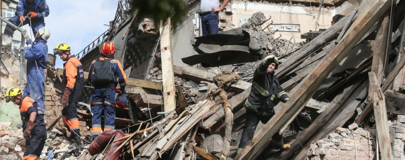 Взрыв в Киеве: спасатели завершили разбор завалов, на месте дежурит Красный Крест
