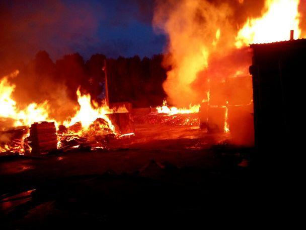 Масштабна пожежа на складі під Києвом: вогонь знищив авто, побутові вагончики та будинок охорони