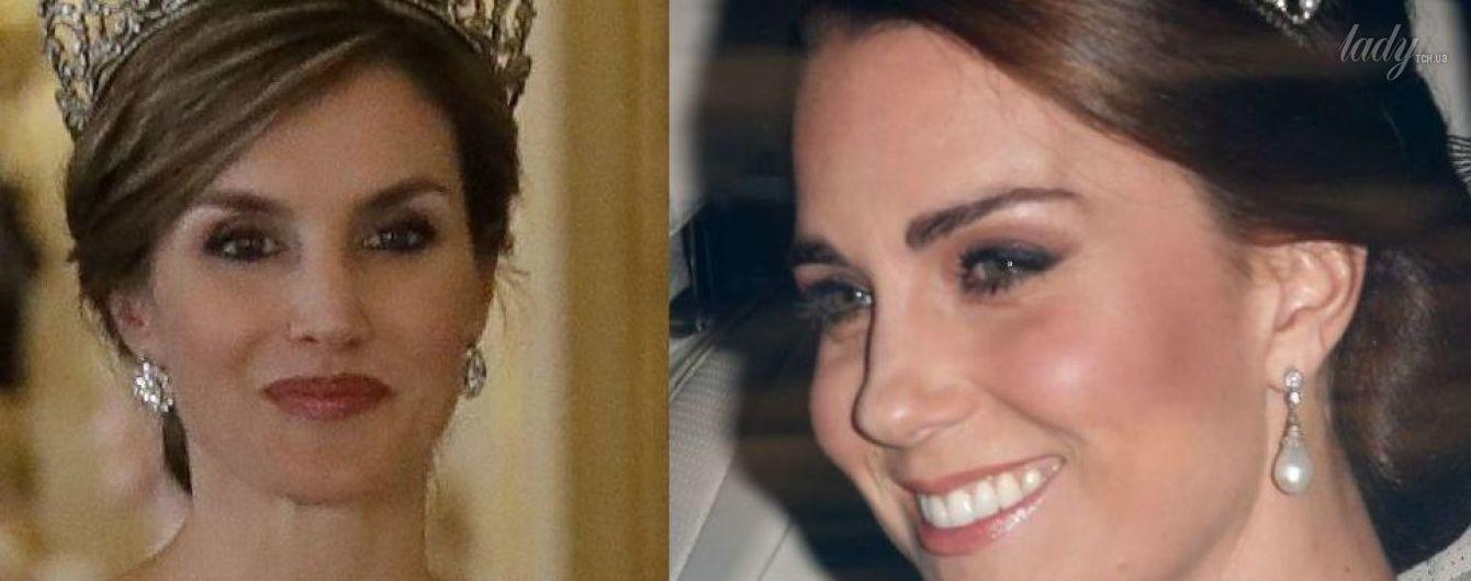 Чья тиара красивее: королевы Летиции или герцогини Кэтрин