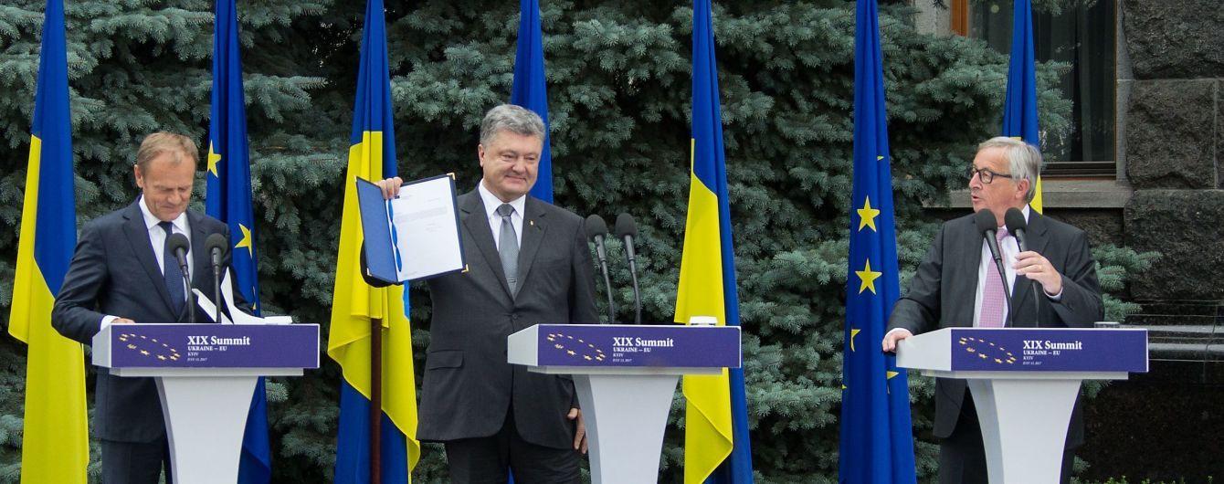 Порошенко получил от Туска решения окончательной ратификации Соглашения об ассоциации Украина-ЕС
