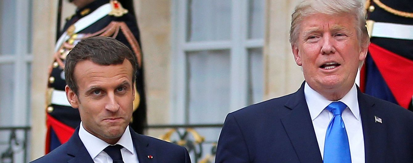 Макрон и Трамп обсудили прекращение огня в Сирии и Украине