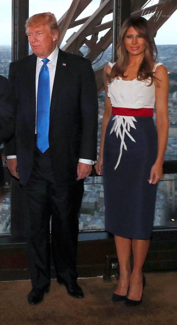 Супруги Трамп и Макрон_7