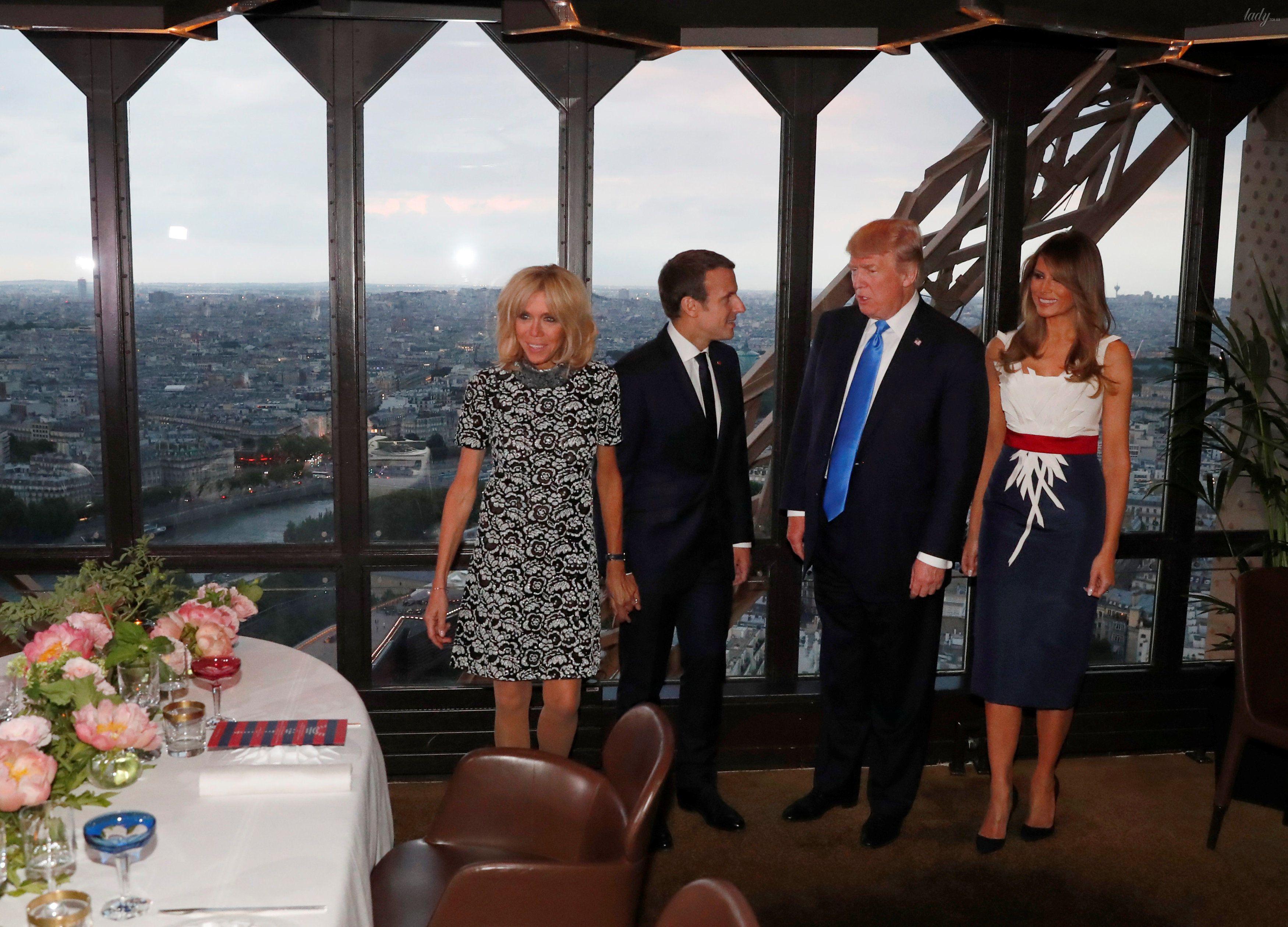 Супруги Трамп и Макрон_2