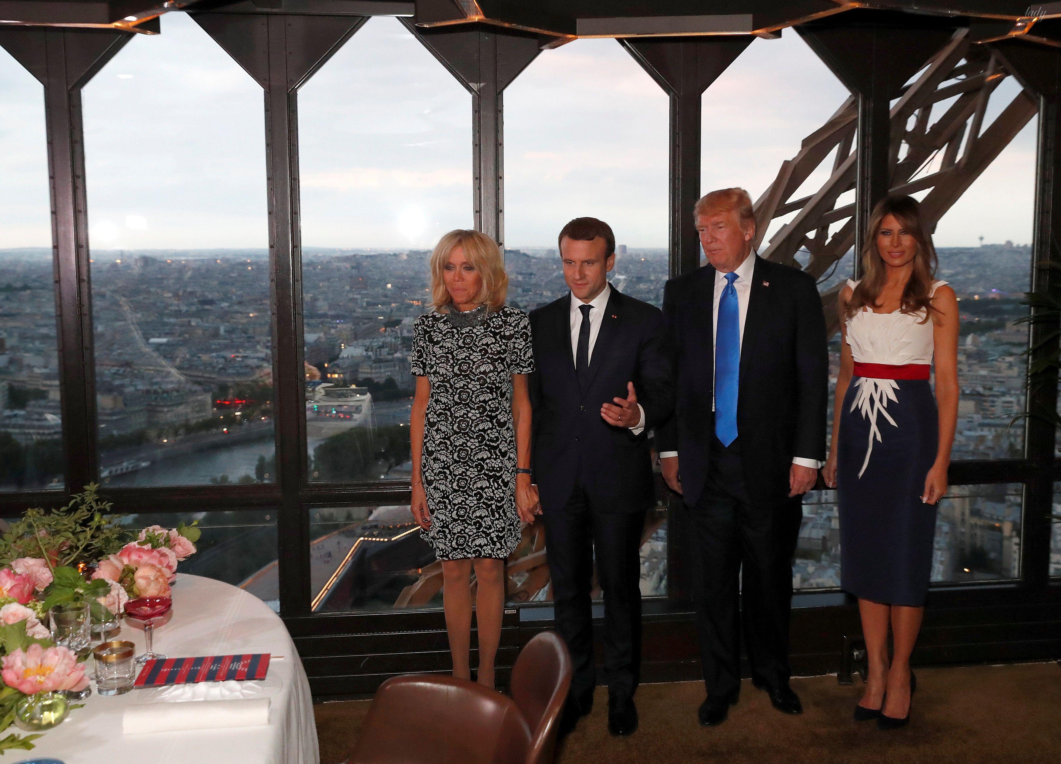 Супруги Трамп и Макрон_4