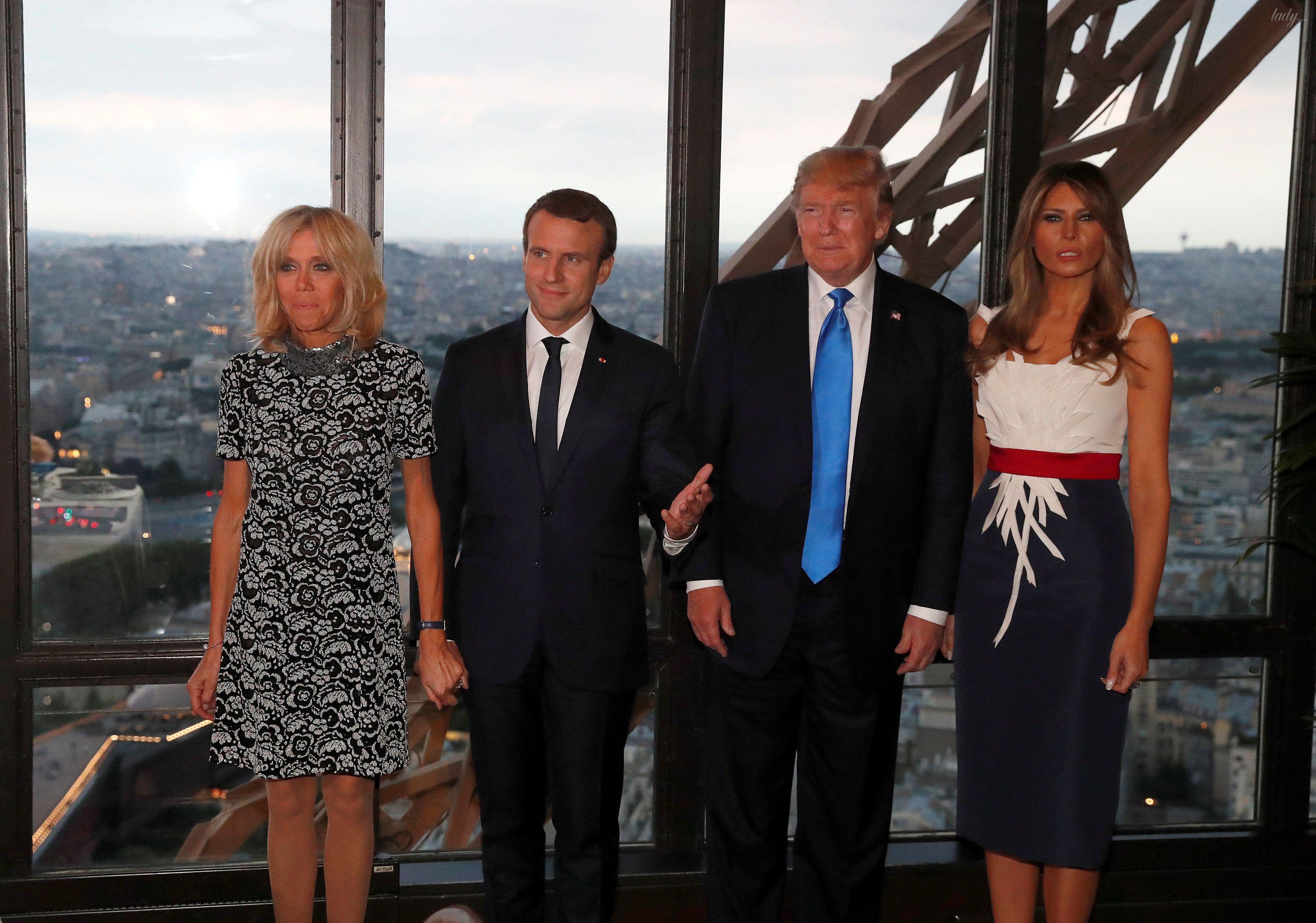 Супруги Трамп и Макрон_1