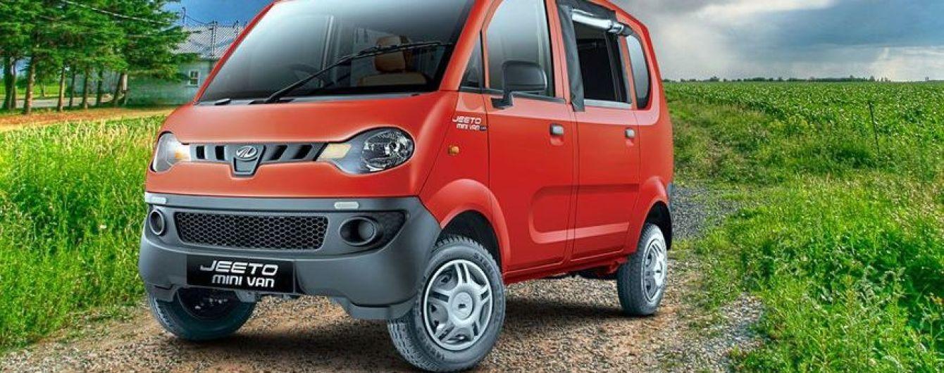 На индийский рынок выходит новый минивэн Mahindra Jeeto