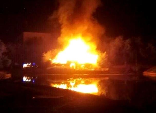 В одному з найстаріших парків Одеси спалахнула масштабна пожежа