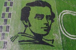 На полях Херсонщини з'явився велетенський портрет Шевченка