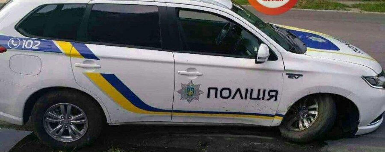 В Днепродзержинске разбили первый полицейский Mitsubishi Outlander PHEV