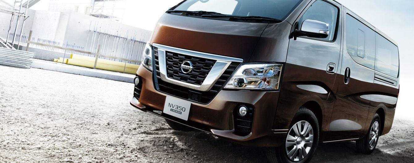 На японский рынок выходит обновленный минивэн Nissan NV350 Caravan
