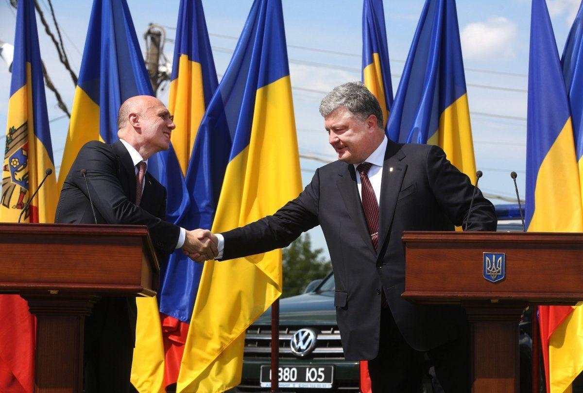 Президент Петро Порошенко і прем'єр-міністр Молдови Павло Філіп_1
