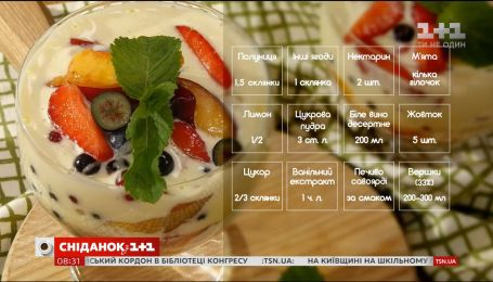Ягідний трайфл з соусом сабайон – рецепти Едуарда Насирова