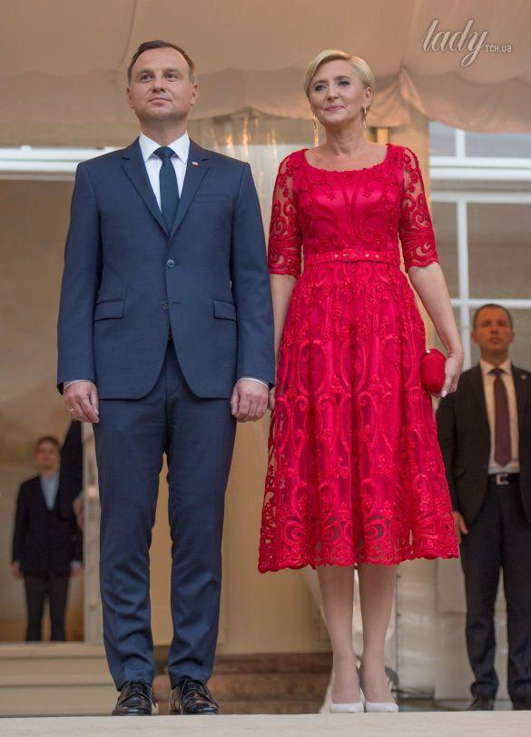 Первая леди Польши с супругом