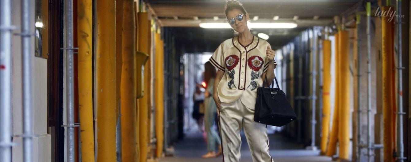 Это очень дорого: Селин Дион надела на шопинг роскошный наряд от Gucci