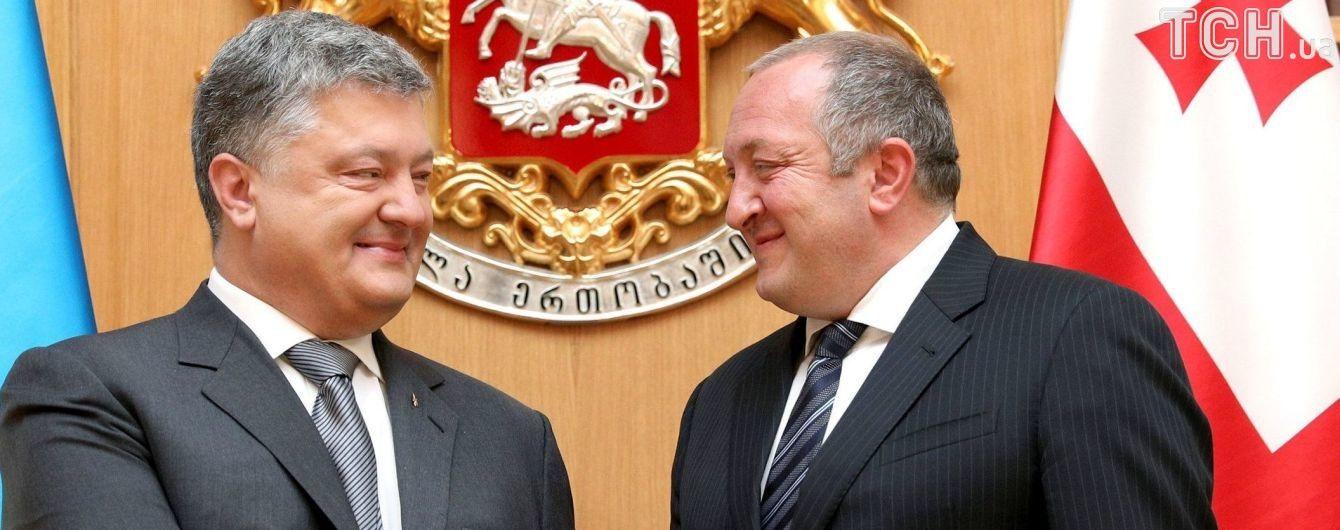 """""""Угроза одна и та же"""". Порошенко заверил, что Украина будет поддерживать """"братский грузинский народ"""""""