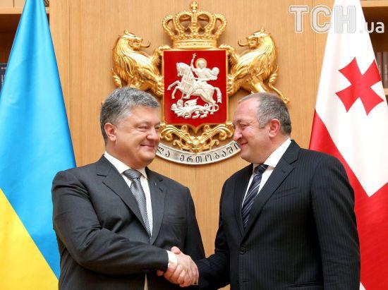 """""""Загроза одна й та сама"""". Порошенко запевнив, що Україна підтримуватиме """"братній грузинський народ"""""""