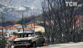 Випалений ліс і загроза курорту. Опубліковані фото наслідків масштабної лісової пожежі у Хорватії