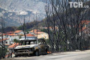 Выжженный лес и угроза курорту. Опубликованы фото последствий масштабного лесного пожара в Хорватии