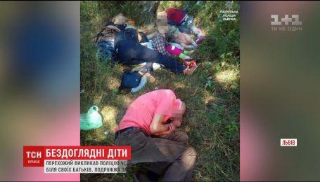 У Львові п'яне подружжя заснуло у лісі, незважаючи на гучний галас 4 дітей