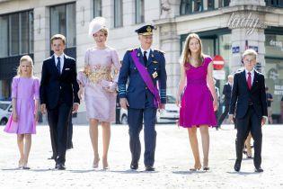 В цветах лаванды и фуксии: парадный выход бельгийских монархов