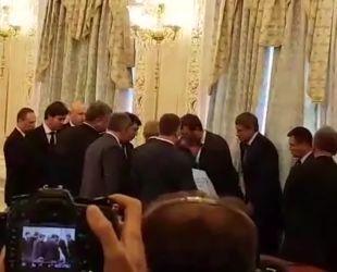 Головний прикордонник знепритомнів на прес-конференції Лукашенка і Порошенка