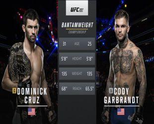 UFC 207. Коди Гарбрандт - Домінік Крус. Відео бою