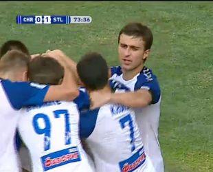 Черноморец - Сталь - 0:1. Видео гола Кузыка
