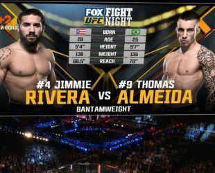 UFC. Джимми Ривера - Томас Алмейда. Видео боя