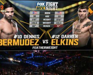 UFC. Даррен Элкинс - Деннис Бермудес. Видео боя