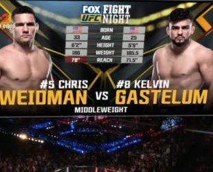 UFC. Кріс Вайдман - Келвін Гастелум. Відео бо